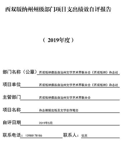项目支出绩效自评报告2